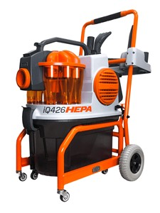 From drywall dust to saw dust, the iQ426HEPA is designed to be the most versatile dust extractor on the market today. The iQ426HEPA separates itself from the competition with its 4 stage filtration system and unmatched, Super Duty Performance! Engineered with advanced cyclonic technology, less than 1% of the dust ever reaches the filter meaning vacuum and airflow stay strong. The iQ426HEPA dust extraction vacuum is a complete revolution for the construction industry.