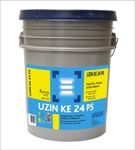 UZIN KE 24 PS is a water based, pressure sensitive adhesive suitable for the installation of all types of modular carpet tile, LVT and LVP, VET and vinyl-backed broadloom carpet. It provides a secure, releasable* adhesive bond and can receive light traffic immediately. Suitable for use over porous and nonporous substrates, UZIN KE 24 PS is easily applied by roller or trowel depending on the floor covering installation requirements.